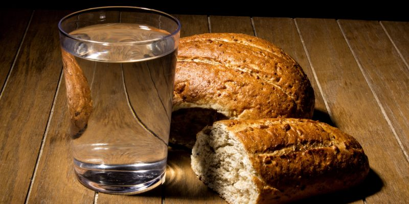 Fasting for bread and water to strengthen the spirit